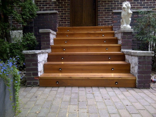 Front entrance stairs for Front step designs wood