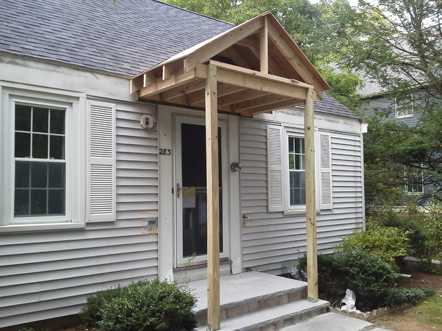 Front entry portico traditional entry boston by for Portico moderno