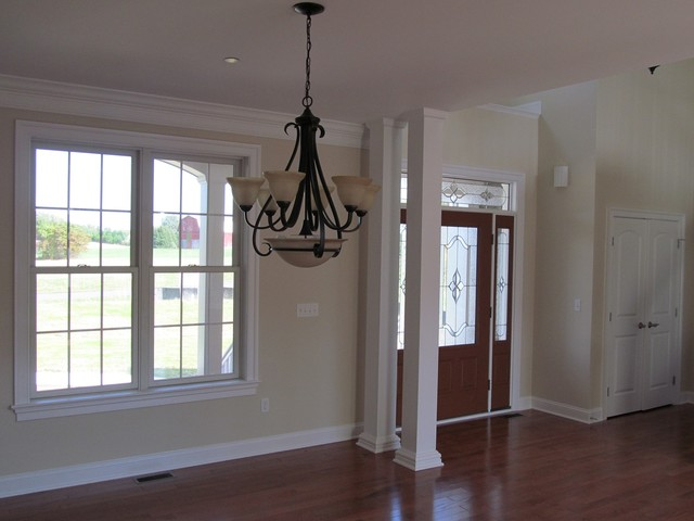 Front Entry Two Story Foyer Viewing From Dining Room Traditional