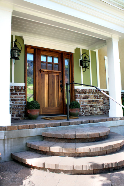 Front Exterior And Porch And Fireplace In Salt Lake City Traditional Entry Salt Lake City
