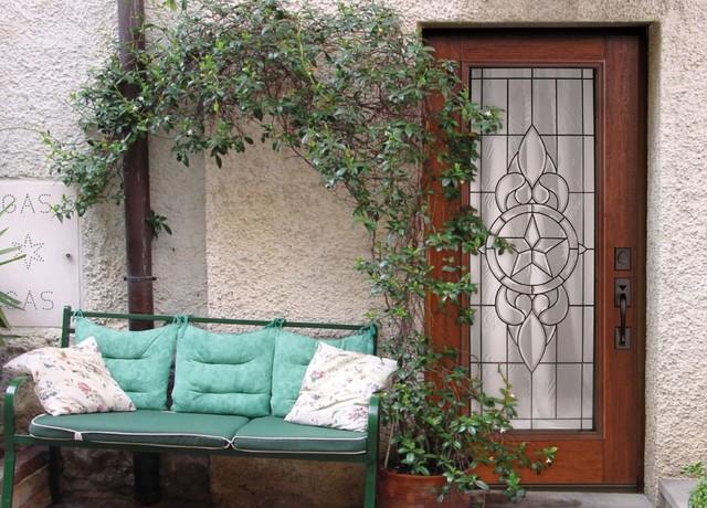 Full Lite Brazos Fiberglass Single Exterior Door Tall 80 Eclectic