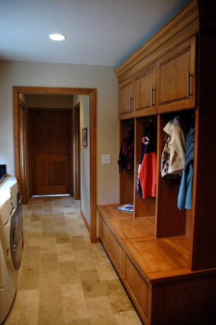 Functional Utility Mudroom and 'Drop Zone' traditional-entry