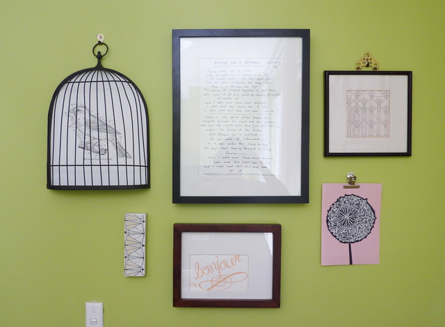 Gallery wall eclectic-entry