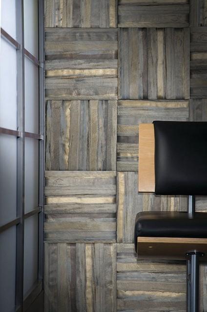 Garrett Leather Wall Panels Tiles Modern Entrance New York