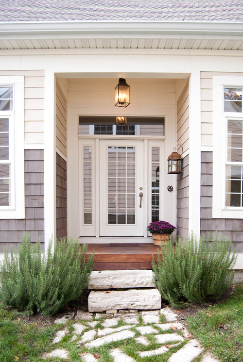A front door with sidelights is a beautiful option... just not my favorite!