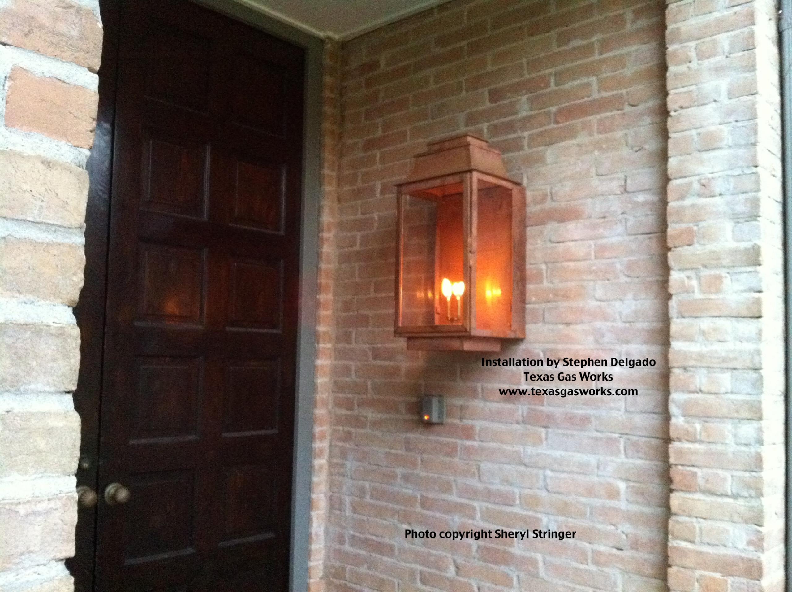 Gas Lantern Installations by Texas Gas Works