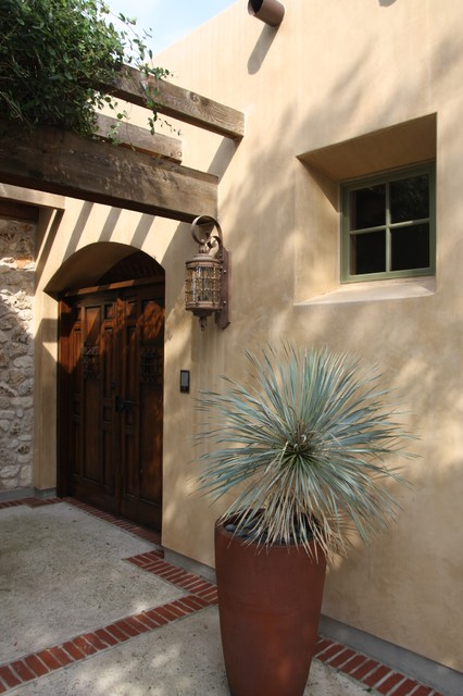 Gates To Interior Courtyard Mediterranean Entry