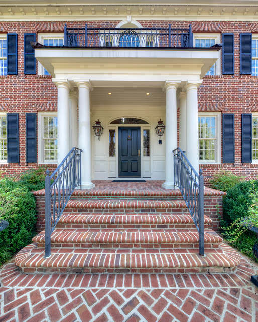 Georgian gem traditional entry atlanta by keiffer - Georgian style exterior lighting ...