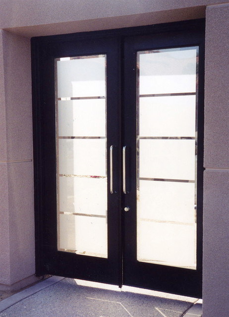 Glass Doors - Frosted Glass Front Entry Doors - GRAND FROSTED eclectic-entry & Glass Doors - Frosted Glass Front Entry Doors - GRAND FROSTED ...