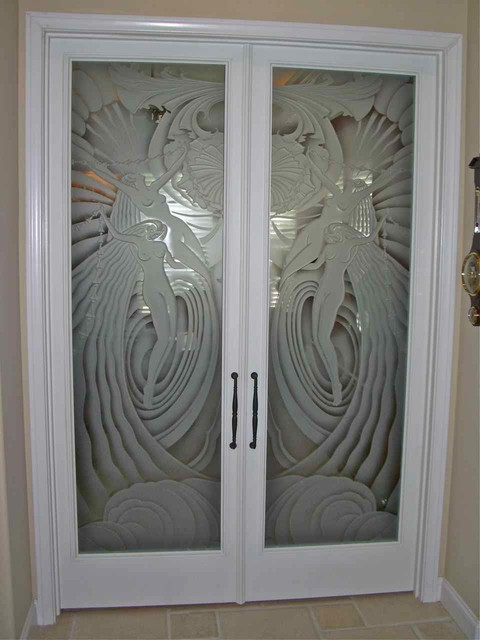 Glass Doors - Frosted Glass Front Entry Doors - RADIANT LADIES 3D - Eclectic - Entry - other ...
