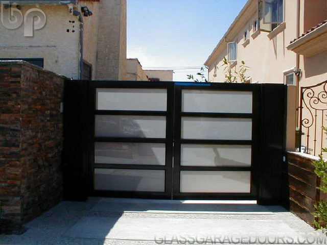 Glass Driveway Gate Modern Entry Los Angeles By Bp Glass