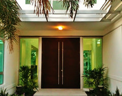 Glass houzz contemporary entry