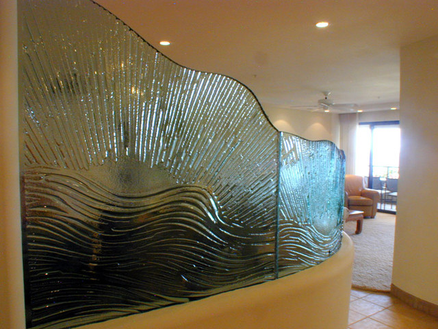 Glass Wave Partition