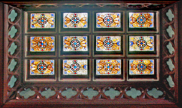 Gothic Ceiling traditional-entry