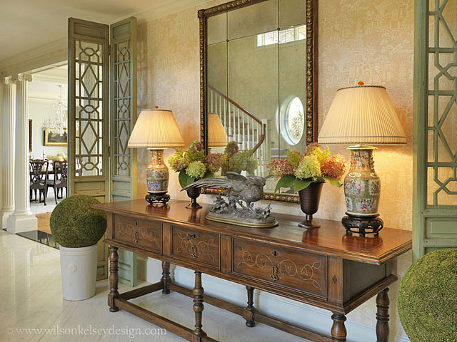 Gracious traditional foyer traditional entry boston for Traditional foyer decorating ideas