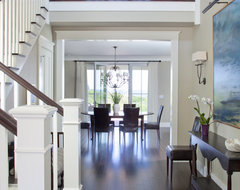 Dark two story round foyer - Houzz