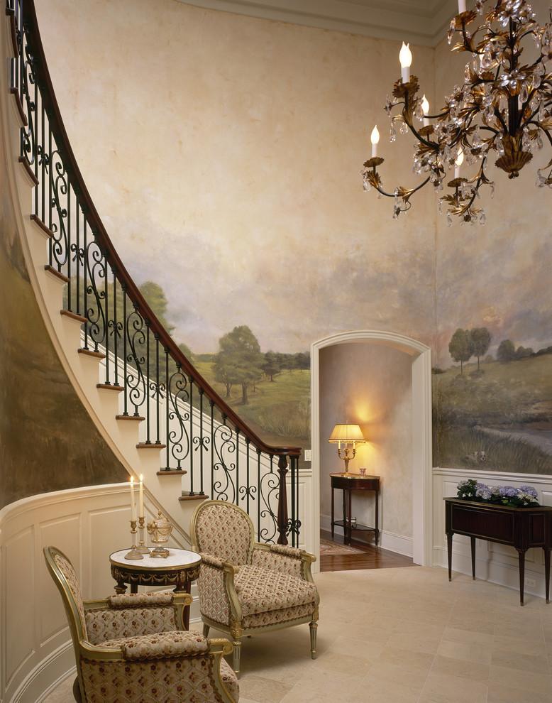 Inspiration for a huge timeless foyer remodel in New York