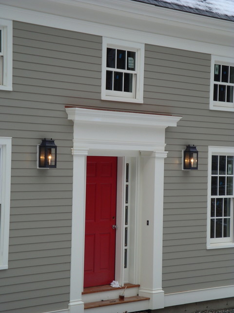 Greek Revival Vermont Farmhouse Farmhouse Entry