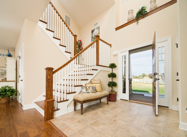 Greenwood Craftsman Model Entrance Foyer Beracah Homes