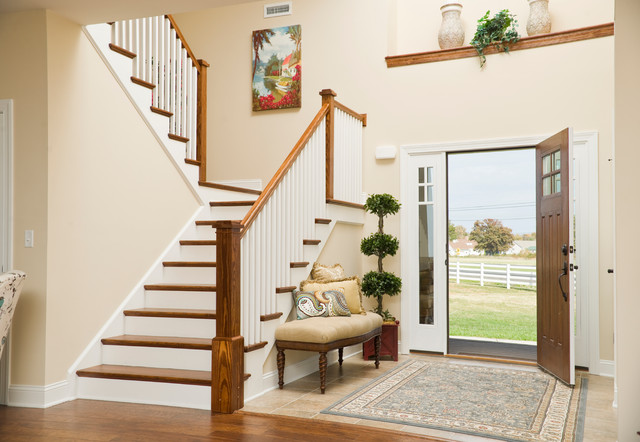 southern style picture ideas for living room walls - Greenwood Craftsman Model Entry Foyer Beracah Homes