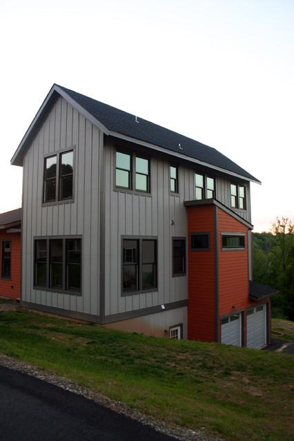 Grey River Run - New Residence contemporary-entry