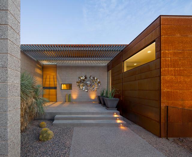 Hahn Egeland Residence Modern Entrance Phoenix By