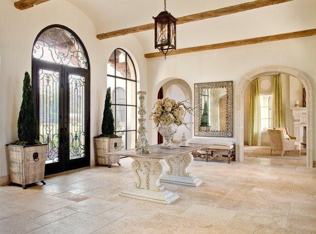 Hand Carved Stone mediterranean-entry