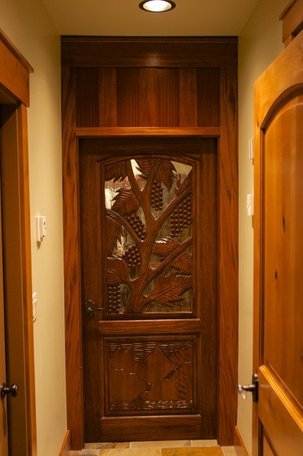 Hand Carved Wood Doors Traditional Entry Los Angeles