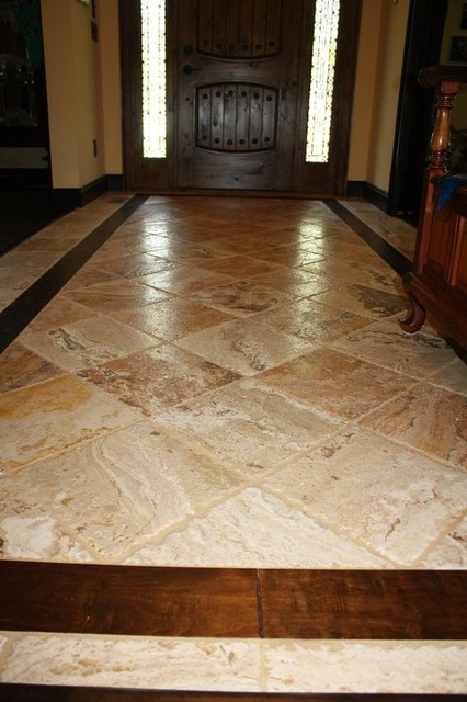 Traditional Foyer Tiles : Hardwood floors more inc traditional entry