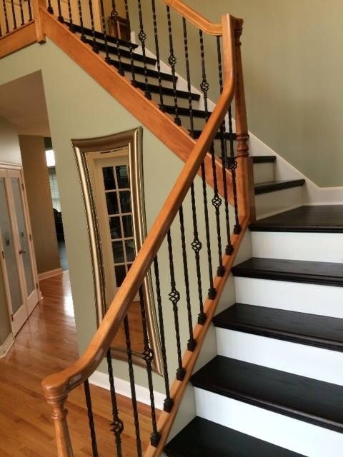 Hardwood stairs entry