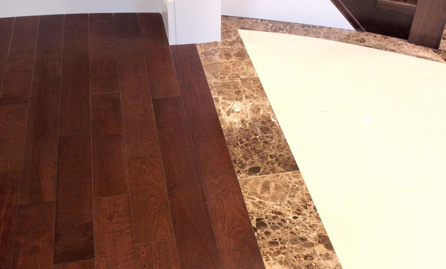 Hardwood Transitions Mouldings And Stripes to Tile