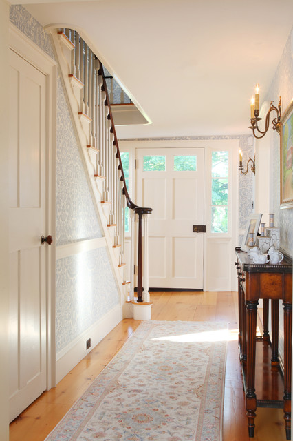 Hearthstone Farm Stair Hall Traditional Entry Boston By Frank Shirley Architects