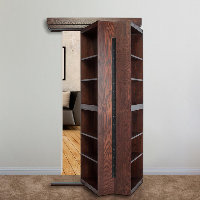 Hidden Door Bookcase Opening Contemporary Entry New
