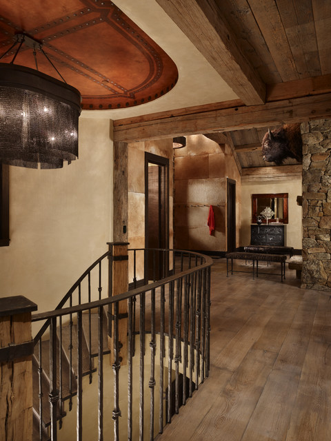 Yellowstone Residence Entry Stair rustic-entry