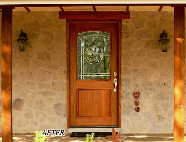 Hill Country Front Entry Door Traditional Entry