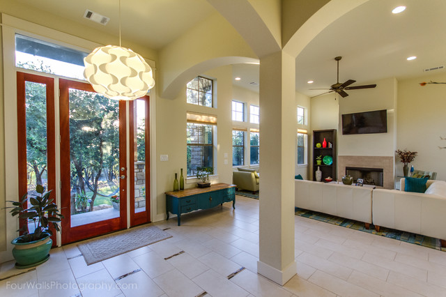 Hill country modern craftsman craftsman entry austin for Accents salon bellingham