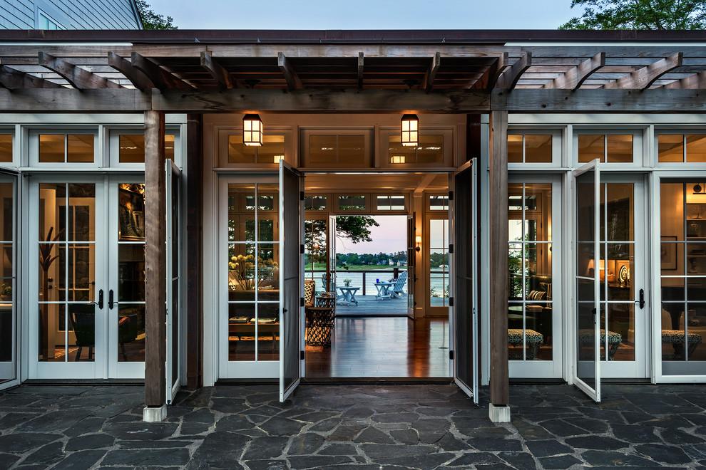 Entryway - beach style entryway idea in Portland Maine
