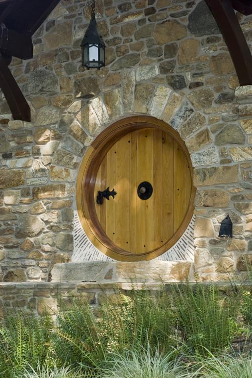 close up of hobbit door