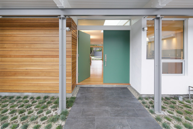 Hollywood Hills midcentury-entry