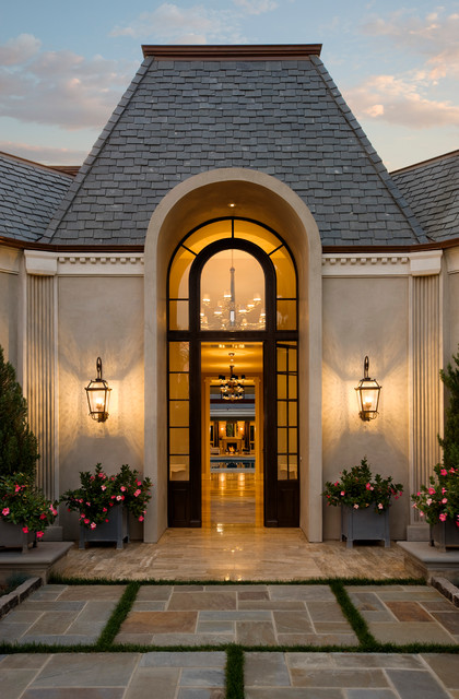 Hollywood Regency Montecito Traditional Entry Other