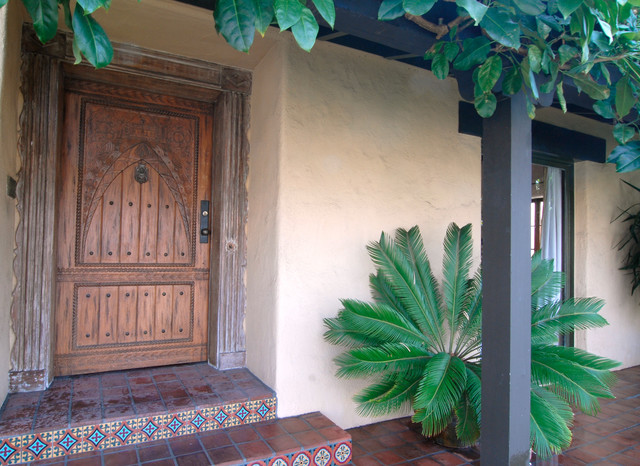 Hollywood spanish colonial restoration mediterranean for Front doors for colonial homes