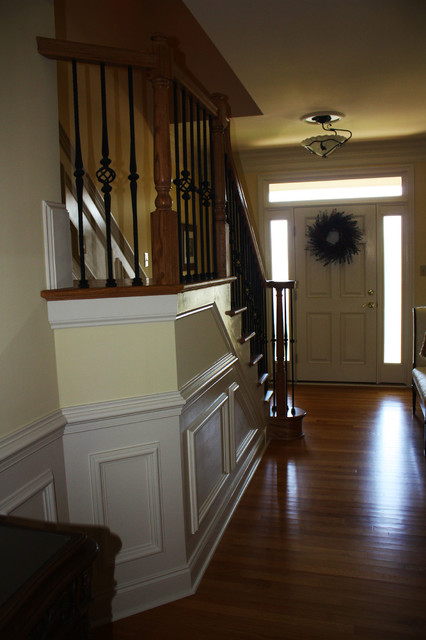 Home office addition stairs traditional entry other for Home office additions