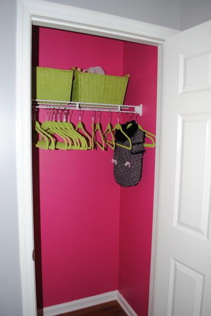 Hot Pink Coat Closet contemporary-entry