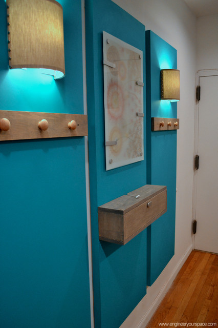 How To Decorate A Big Blank Wall And Create An Entryway