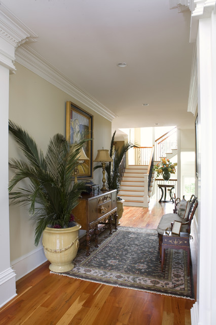 Howard Residence Foyer traditional-entry