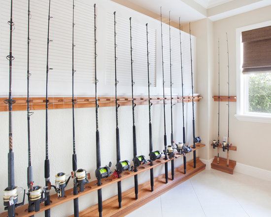 Fishing poles storage ideas car interior design for Fishing rod storage ideas