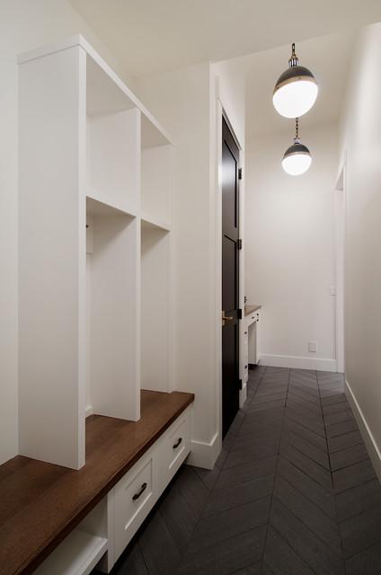 Inner City Mud Room Contemporary Entry Calgary By Veranda Estate Homes Amp Interiors