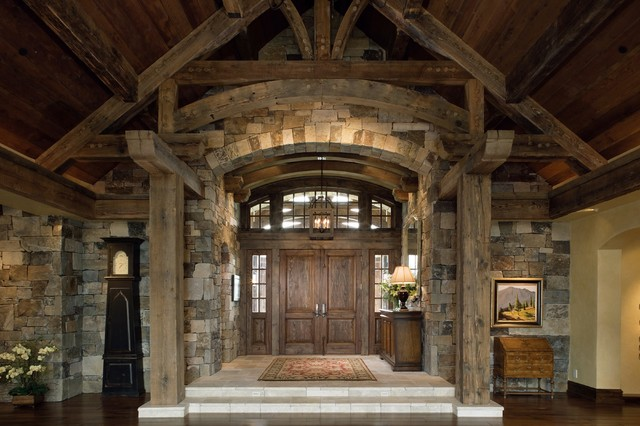 Rustic Foyer : Interior grand entrance rustic entry san francisco
