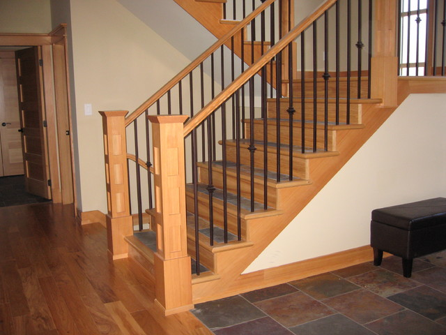 Awesome Interior Railings Traditional Entry