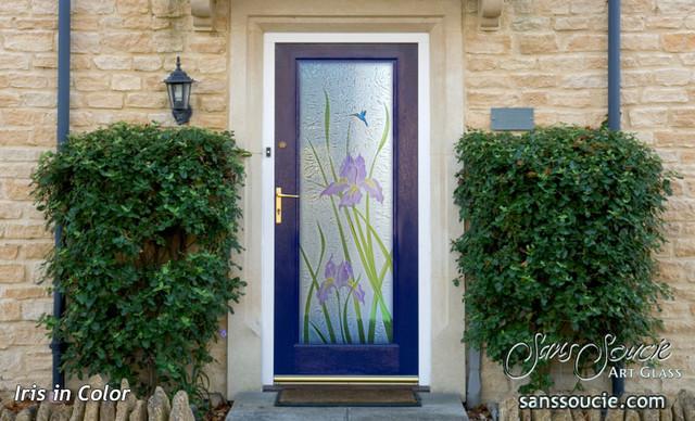 Iris 3d painted glass front doors exterior glass doors glass iris 3d painted glass front doors exterior glass doors glass entry doors traditional planetlyrics Choice Image